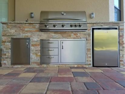 Custom Outdoor Kitchen Construction in Paseo - Fort Myers, Florida