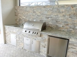 Custom Barbecue Island by Elegant Outdoor Kitchens of Fort Myers, Florida