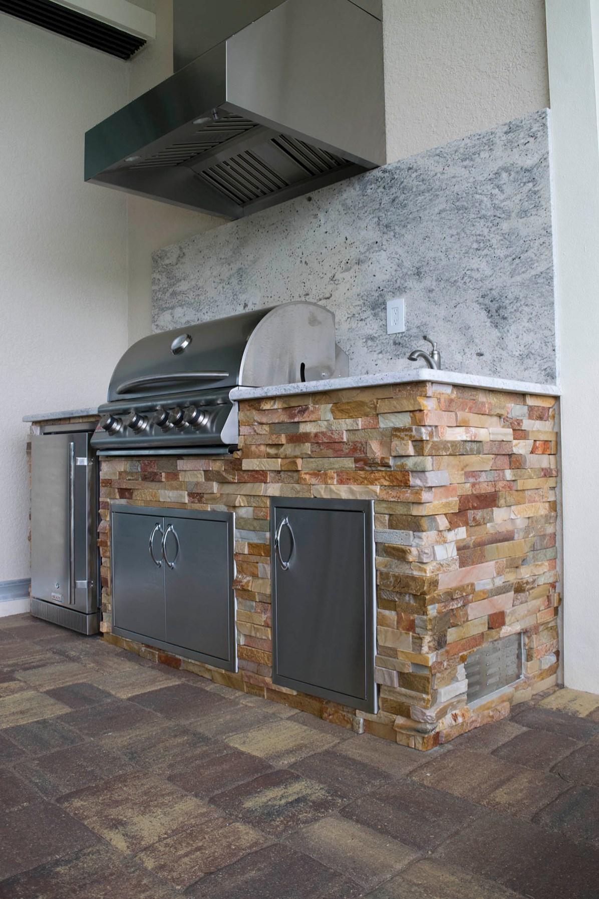 Brilliant Barocco White Granite Outdoor Kitchen Elegant Outdoor Kitchens