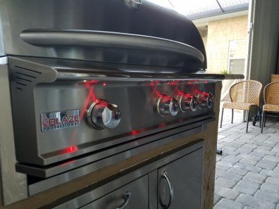 Blaze 34 Inch Grill with Red LED Lights
