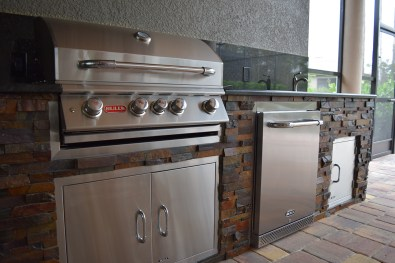 Close-up of Custom Outdoor Kitchen Project - Elegant Outdoor Kitchens