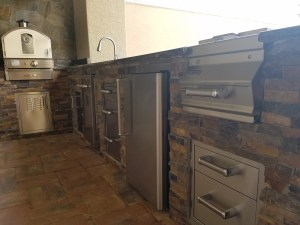 Close-up of Fire Magic Outdoor Kitchen by Elegant Outdoor Kitchens
