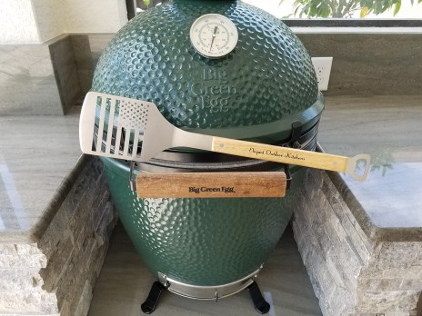 Close-up of Large Big Green Egg Grill