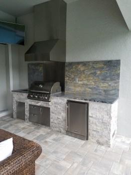 Elegant Outdoor Kitchens of Southwest Florida - Arabescatus Oro Granite