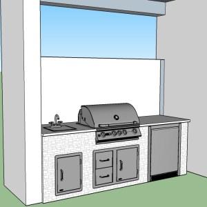 CAD Outdoor Kitchen Concept Design by Elegant Outdoor Kitchens of SWFL