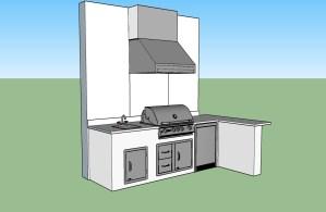 Paseo Outdoor Kitchen CAD Design - left