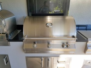 Close-up of 36 Fire Magic Aurora A790i Grill with Rotisserie & Infrared Burner