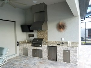 Custom Barbecue Island & Outdoor Living Area by Elegant Outdoor Kitchens