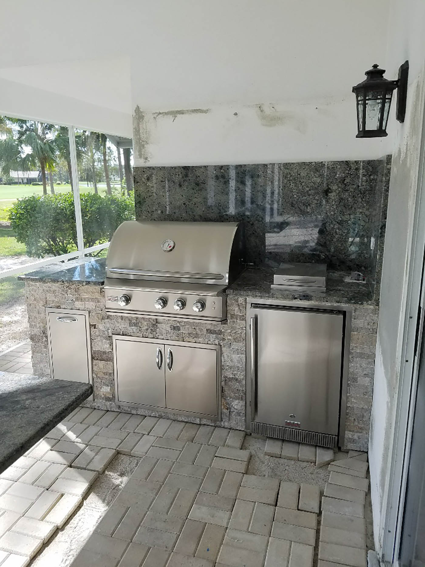 The Quail West Nest - Outdoor Kitchen Area - Elegant ... on Custom Outdoor Living id=82918