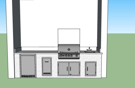 Custom Outdoor Kitchen & Living Area Design by Elegant Outdoor Kitchens