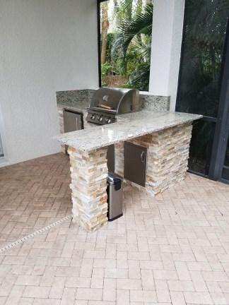 Custom Overhang Counter-top - Elegant Outdoor Kitchens