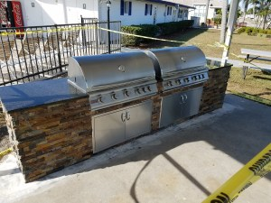 Dueling Grills The Sequel Outdoor Kitchen Construction Project by Elegant Outdoor Kitchens