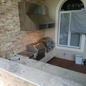 Elegant Outdoor Kitchens Custom Barbecue Island