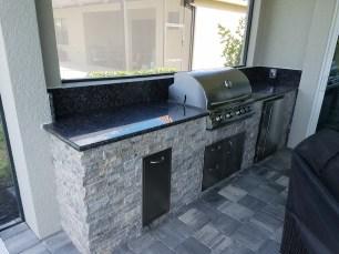 Blue Custom Outdoor Kitchen by Elegant Outdoor Kitchens