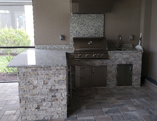 Taylor Morrison Home Outdoor Kitchen Profile View by Elegant Outdoor Kitchens