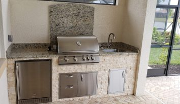 Front of Custom Outdoor Kitchen by Elegant Outdoor Kitchens of Southwest Florida