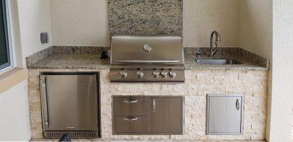 WCI Pelican Preserve Outdoor Kitchen by Elegant Outdoor Kitchens