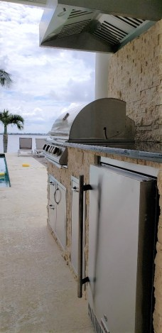 Outdoor kitchen waterfront living