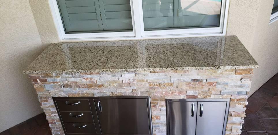 Close-up of level 1 Amarillo Ornamental Granite