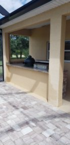 Rear wall of the Summer Outdoor Kitchen Project