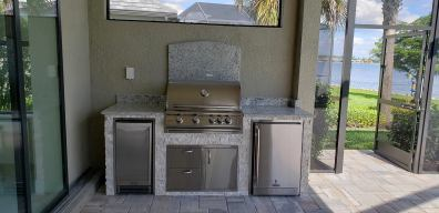 Custom BBQ Island design by Elegant Outdoor Kitchens of Southwest Florida