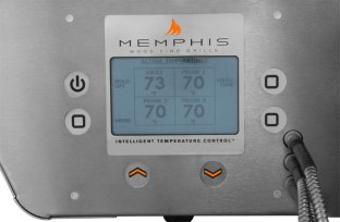 The Memphis Elite Pellet Grill Control Panel