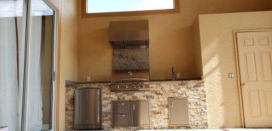 Cappadocia Stacked Stone Outdoor Kitchen - Elegant Outdoor Kitchens of SWFL