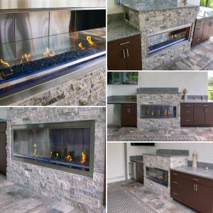 Outdoor Fireplace Design and Construction by Elegant Outdoor Kitchens