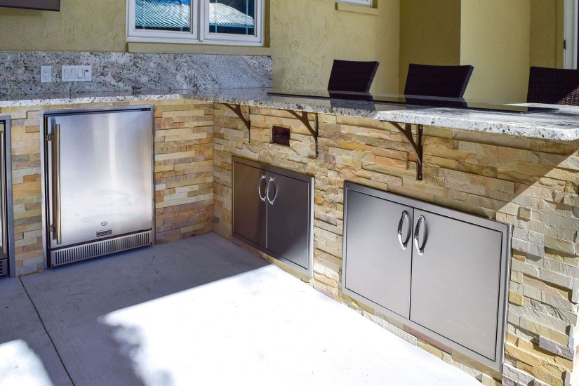 Dual Blaze Double Doors and MSI Sedona Fossil Splitface Stacked Stone