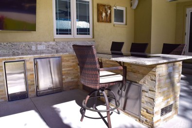 Custom Outdoor Kitchen Designed and Constructed by Elegant Outdoor Kitchens of #Southwest Florida