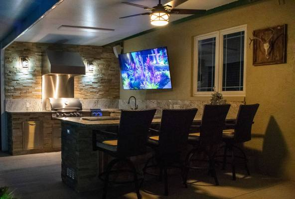 Outdoor Kitchen & Living Area Design and COnstruction by Elegant Outdoor Kitchens of SWFL