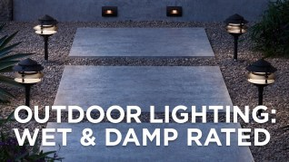 Can outdoor lights get wet? A picture showing outdoor lights that are wet and damp rated