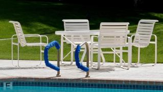 How to Clean Vinyl Strap Outdoor Furniture - Furniture placed outside