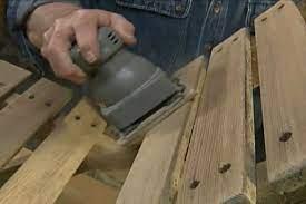 Sanding is a preparatory procedure in how to restore outdoor wood furniture
