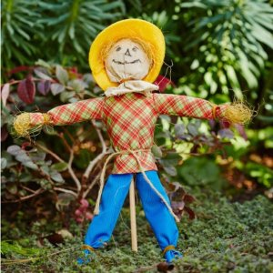 A scarecrow is one of the ways on How to Keep Squirrels from chewing on patio furniture