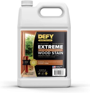 Best Stain for outdoor wood furniture in a container
