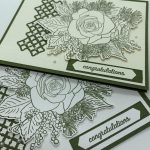 Two Congratulations cards with rose and trellis using Stampin Up products