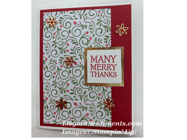Christmas card with Stampin Up holiday products