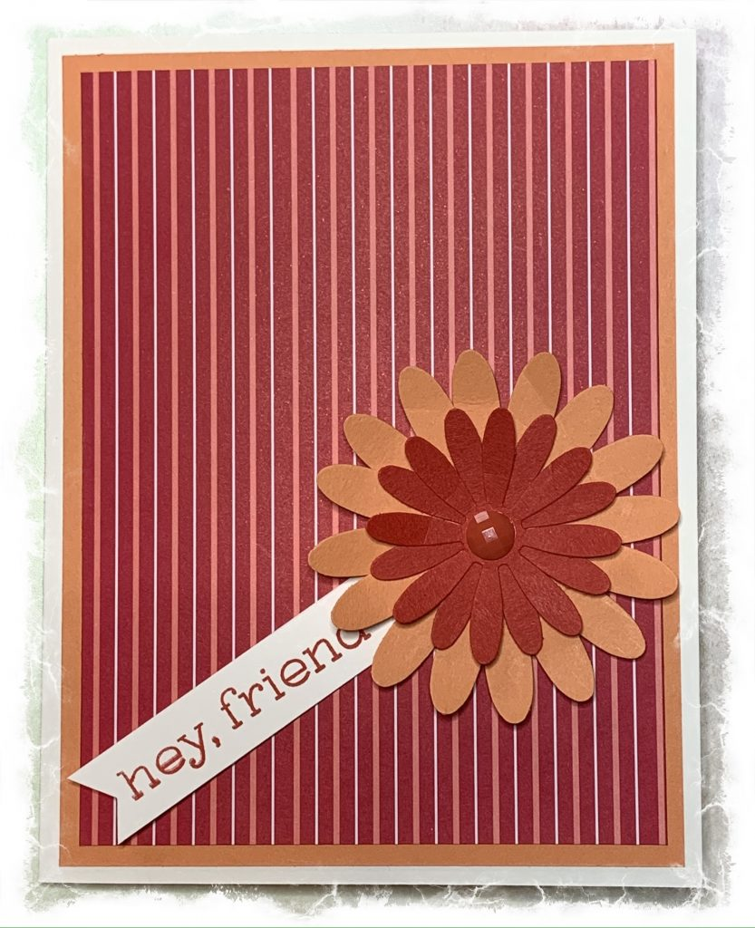 Friendship card created with Stampin' Up products
