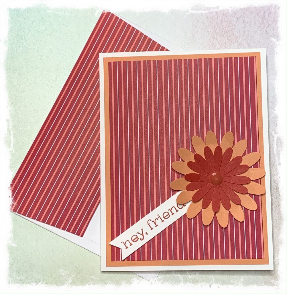 Friendship card and envelope made with Stampin' Up products