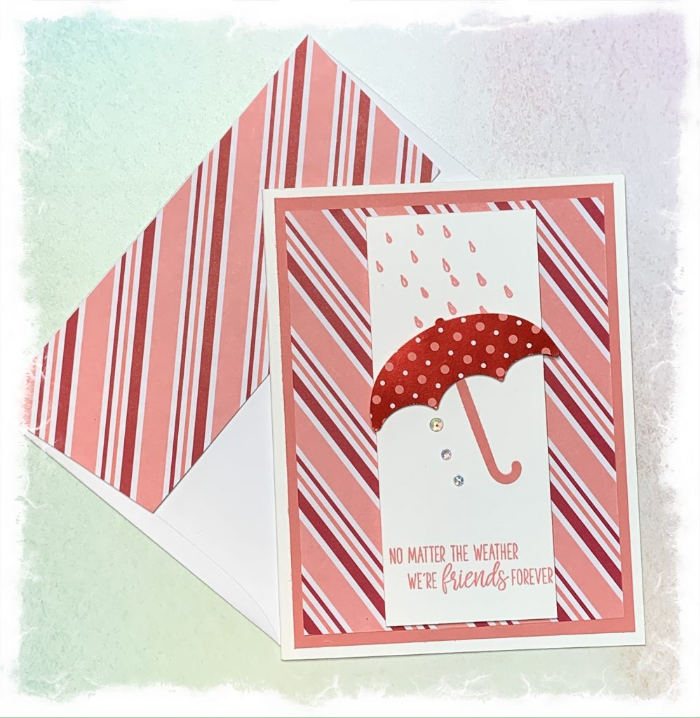 Friendship card with envelope make with Stampin Up products