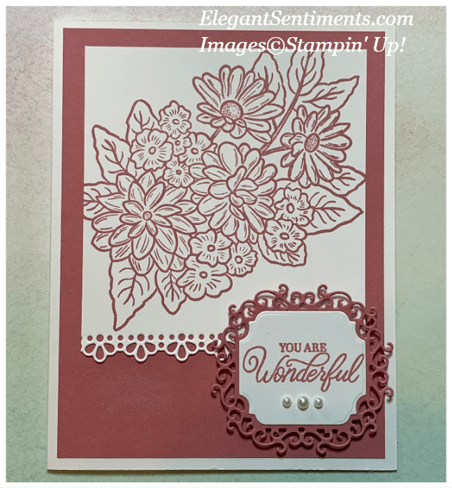 Floral greeting card made with Stampin' Up! products