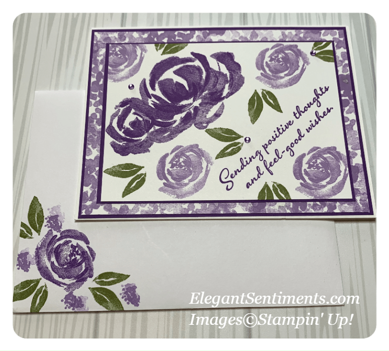 Friendship card and Envelope made with Stampin' Up! products