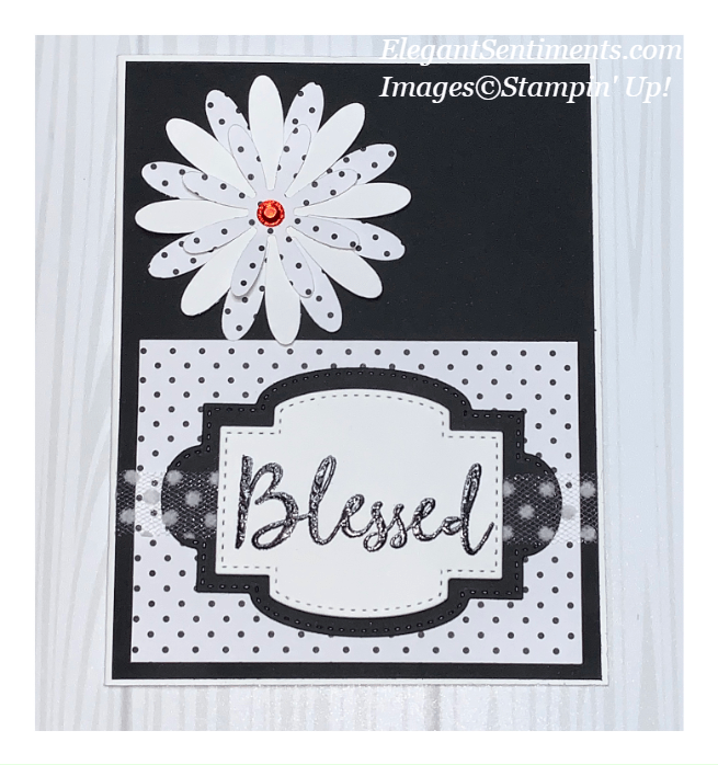 Black and White greeting card made with Stampin' Up! products