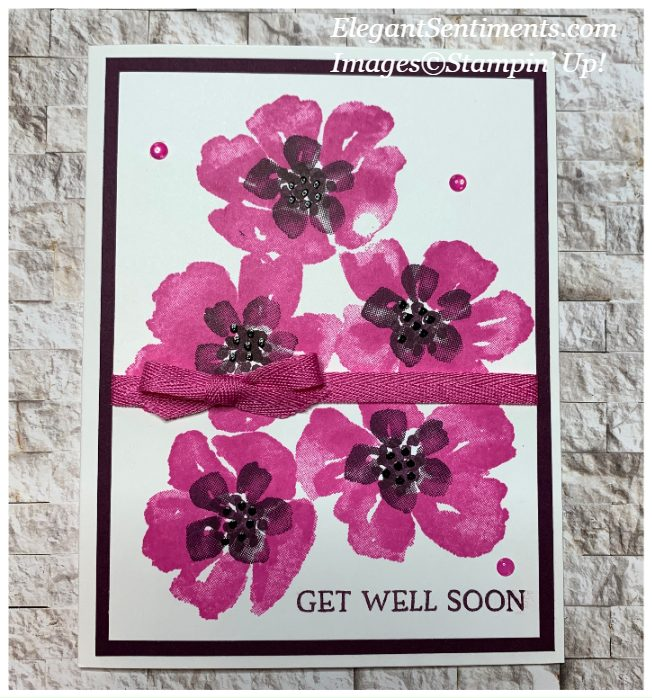 Get Well card featuring Blossoms In Bloom Stamp Set by Stampin' Up!