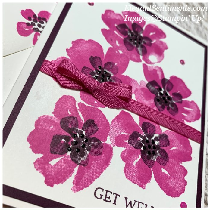 Close Up of a get well card make with Stampin' Up! products