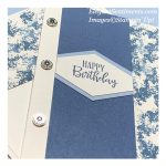 Close up of a birthday card made with Stampin