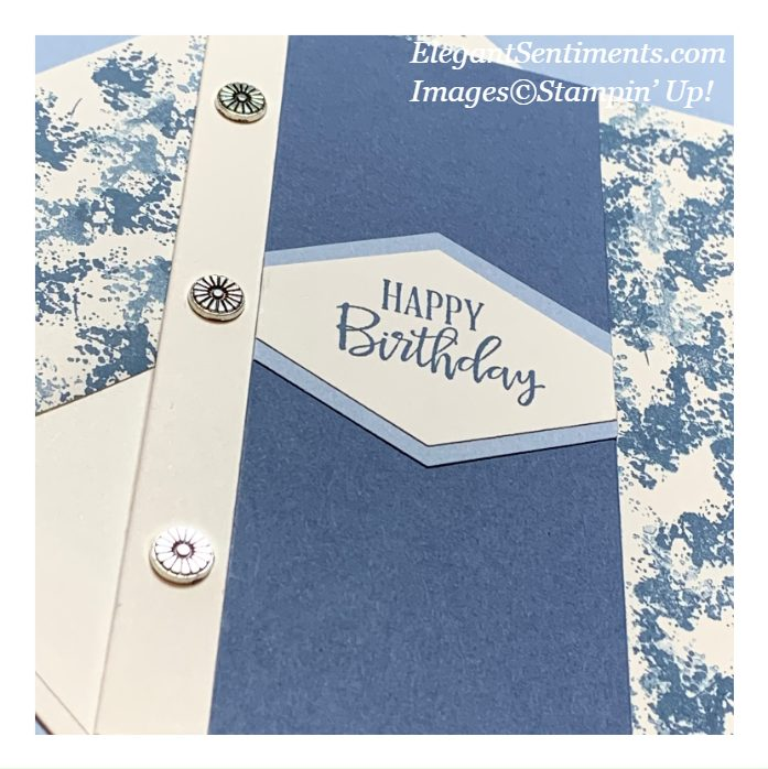Close up of a birthday card made with Stampin' Up! products.