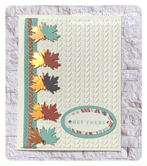 Greeting card make using Stampin' Up! products