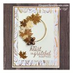 Autumn themed gratitude card made with Stampin